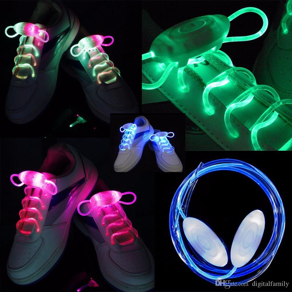 15 pares LED Piscando cadarços de Fibra Óptica cadarço Luminous Shoe Laces Light Up Sapatos rendas