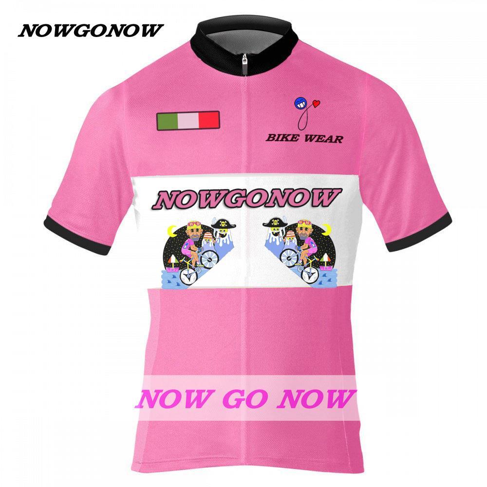 Mann halten sechs 6 Fuß Radfahren Jersey weiß schwarz Bike Kleidung Verschleiß pro Rennen Reiten MTB Straße ropa ciclismo cool NOWGONOW Italien ROSE