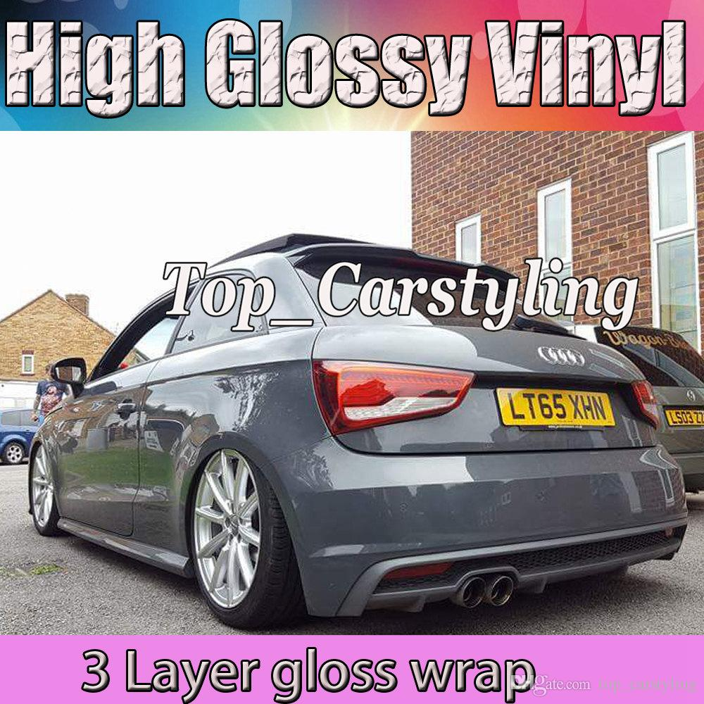 2019 3 Layer Nardo Gray Glossy Vinyl Wrapping Gloss Sheet