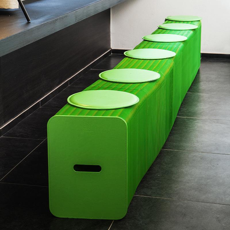 H42cm x L300cm Innovation Furniture Pop - Smart Bench Indoor Universal Waterproof Accordion Style Kraft Portable Sofa for 6 Seats 71-1042