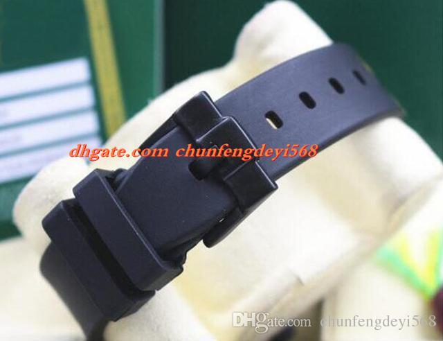 Art- und Weiseluxus 116719 PVD, das rotes blaues keramisches Anzeigetafel-Gummiarmband 40MM automatische Bewegungs-Mann-Uhren neue Ankunft beschichtet