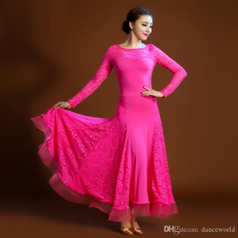 Acheter 2018 Robe De Flamenco Rouge Costume De Danse Espagnole