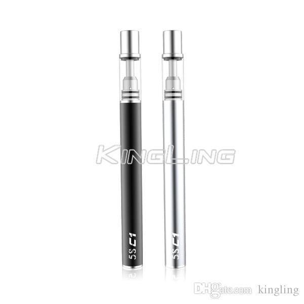 Vaporizer Oil Pen Disposable E Cigarettes Empty Vape Pen Ceramic Coil Buttonless Battery 320mah for Essential Thick CO2 0.5ml Green Oil