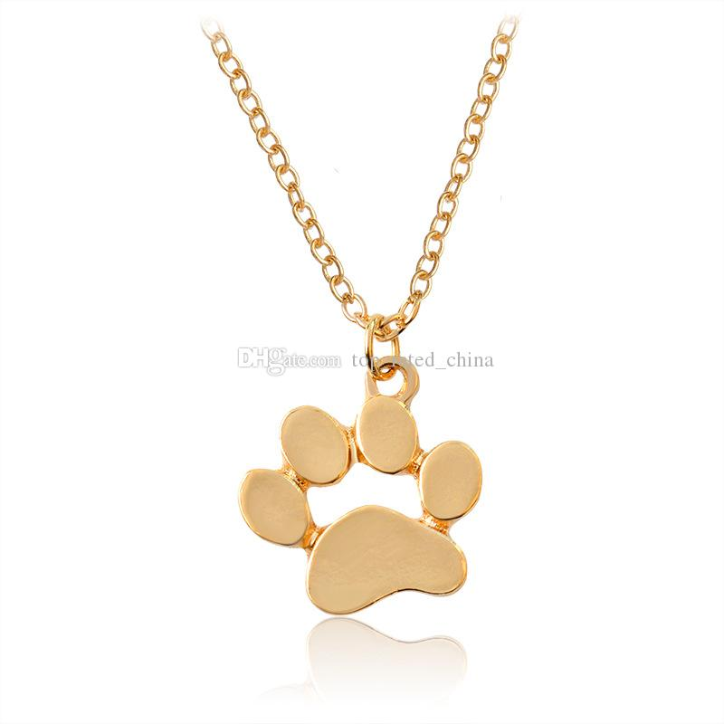 Wholesale new fashion silver plated cute paw print pendant necklace wholesale new fashion silver plated cute paw print pendant necklace for women cat dog paw necklaces xl634 silver heart necklace pendants for men from aloadofball Images