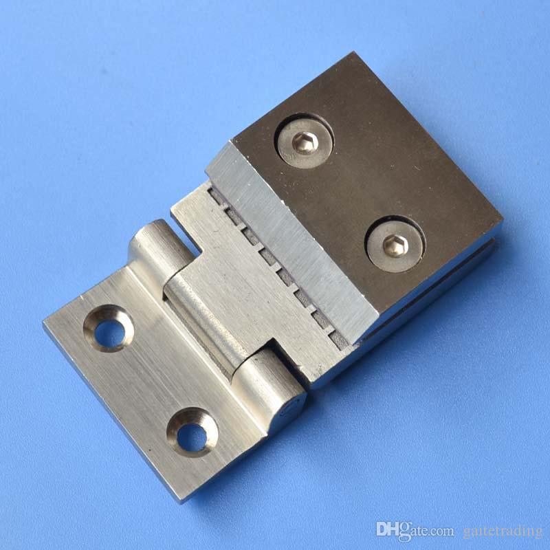 Baño de acero inoxidable clip de vidrio espesado bisagra de puerta hardware doméstico abrazadera