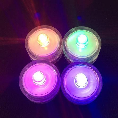 À Prova D 'Água LEVOU Luzes Submersíveis Underwater Tea Light Vela Lâmpada Lâmpada Para Festa de Aniversário de Natal Flor Lagoas Tanques Luz Da Noite