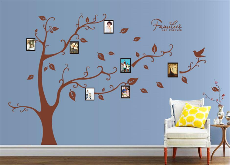 big size photo frame family tree wall stickers for bedroom living