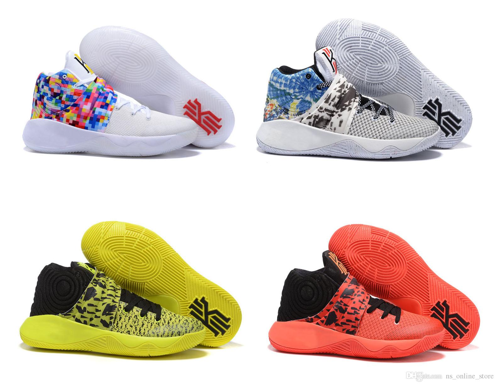 online retailer 975ff de88a Kyrie Irving Basketball Shoes For Men Kyrie 2 Bright Crimson Tie Dye BHM  All Star Basketball High Quality Outdoor Sports Sneakers Basketball Mens  Shoes From ...