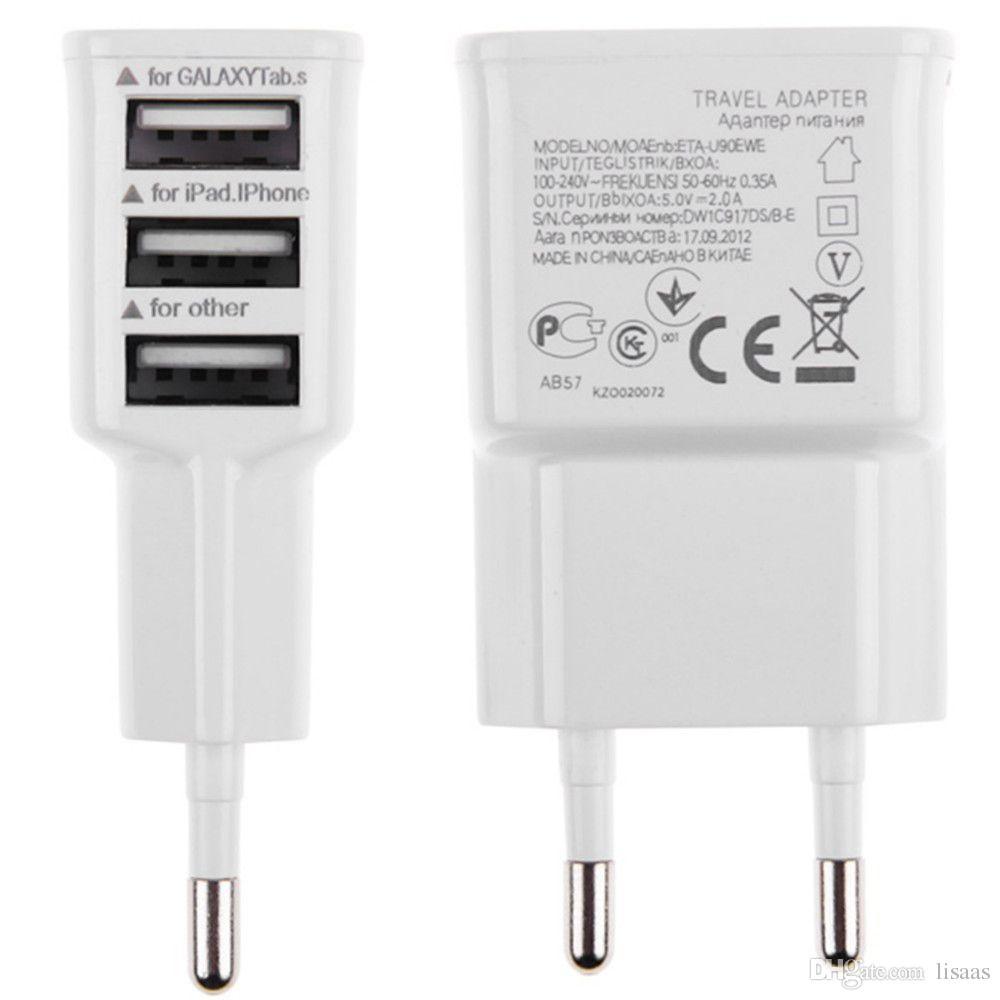 5 V 2A EU Multi USB Ladegerät Gerät Stecker Für Oneplus iPhone 6 5 S 5 4 S für Samsung Galaxy S5 Reise Usb Netzteil Ladegerät 300 teile / los