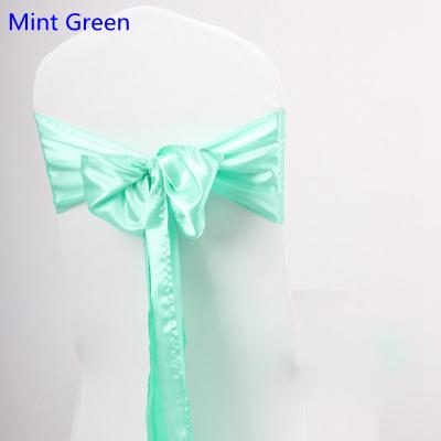 Mint Green Colour Satin Sash Chair High Quality Bow Tie For Chair Covers  Sash Party Wedding Hotel Banquet Home Decoration Wholesale Bridal Belt  Graduation ...