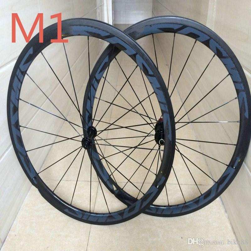 New arrival 700C bicycle carbon wheels clincher 11s 50mm road bike carbon wheels 23mm width basalt surface taiwan carbon wheels