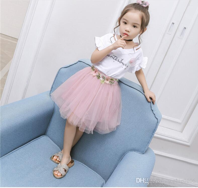 cc0d4fec15 2019 Girl Dresses Baby Clothes Girls Kids Summer T Shirt And TUTU Dress  Skirts Two Pieces Sets Children Clothing Fashion Short Sleeve TUTU Dress  From ...