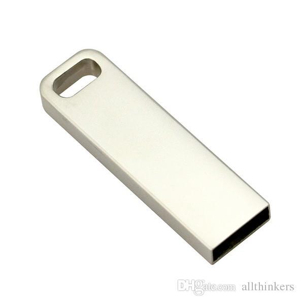 Réel Capacité Étanche Métal Argent Porte-clés rectangulaire 8 GB 16 GB 32 GB 128 GB Stylo Lecteur Pendrive Usb Flash Drive Livraison Gratuite