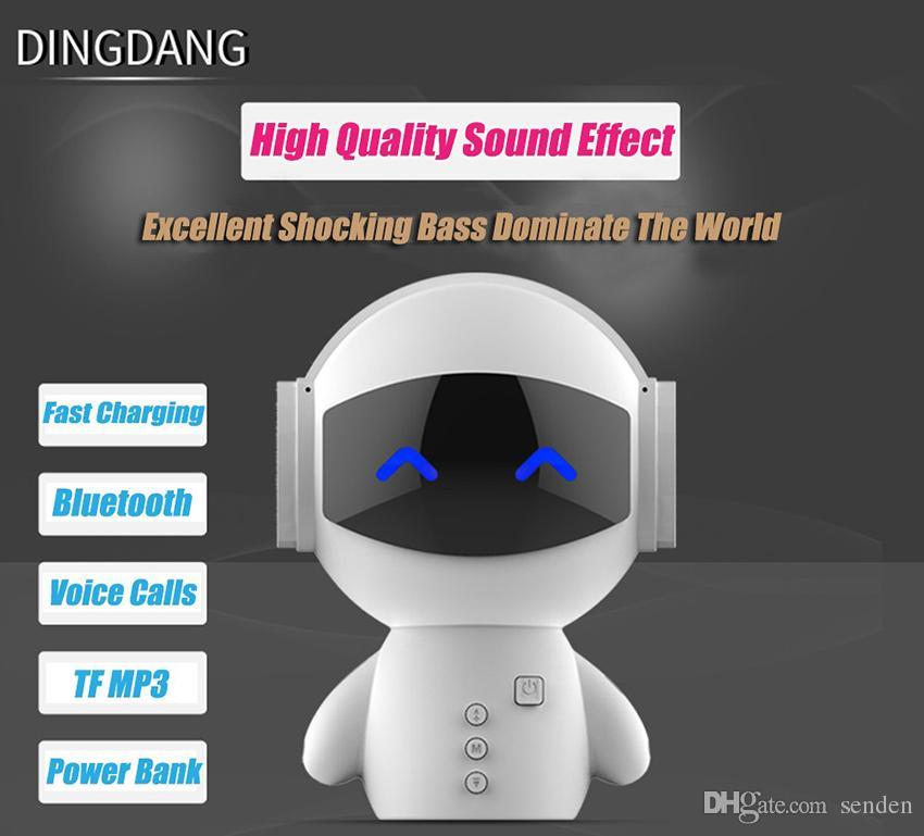 Date DingDang Mignon M10 robot portable haut-parleur sans fil Bluetooth mains libres avec banque d'alimentation AUX TF MP3 lecteur de musique téléphone portable appel