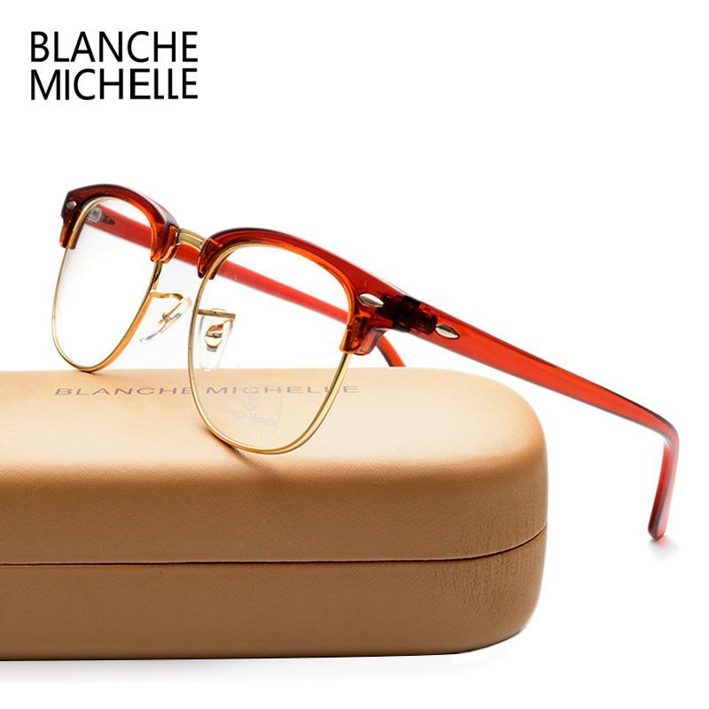 46e6592756c Wholesale- Classic Unisex Half Frame UV400 Eyeglasses Frame Men ...