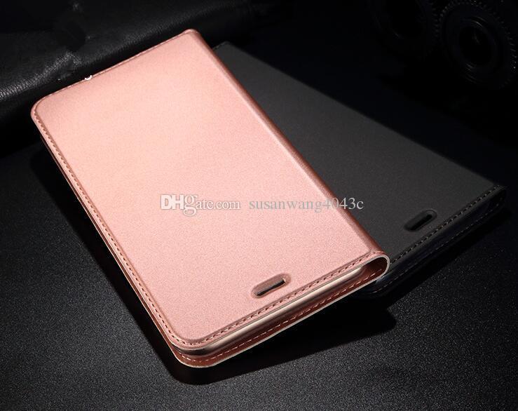 Custodia a portafoglio di lusso iPhone X XR XS Max 7 6 6s plus S8 S9 S10 5G note 9 10 Huawei Xiaomi pelle liscia sensazione vibrazione Scafo Shell GSZ305