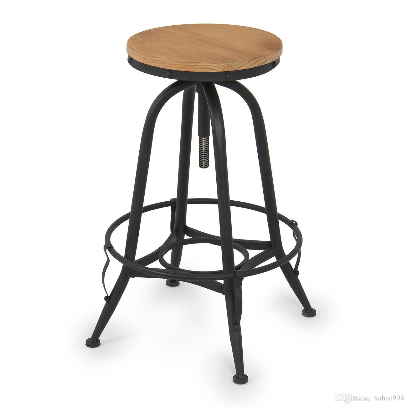 2018 Vintage Bar Stool Industrial Adjustable Height Swivel Home Kitchen  Counter Top From Xuhao998, $40.21 | Dhgate.Com