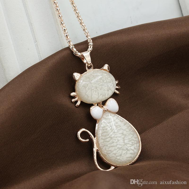 2017 nuovo design lungo cristallo piccola collana pendente ciondolo le donne personalità dichiarazione pendente collana gioielli alla moda