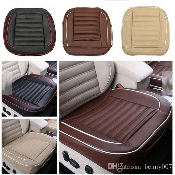 auto interior pad mat 50x50cm pu leather car cushion seat chair cover black beige coffee brown. Black Bedroom Furniture Sets. Home Design Ideas