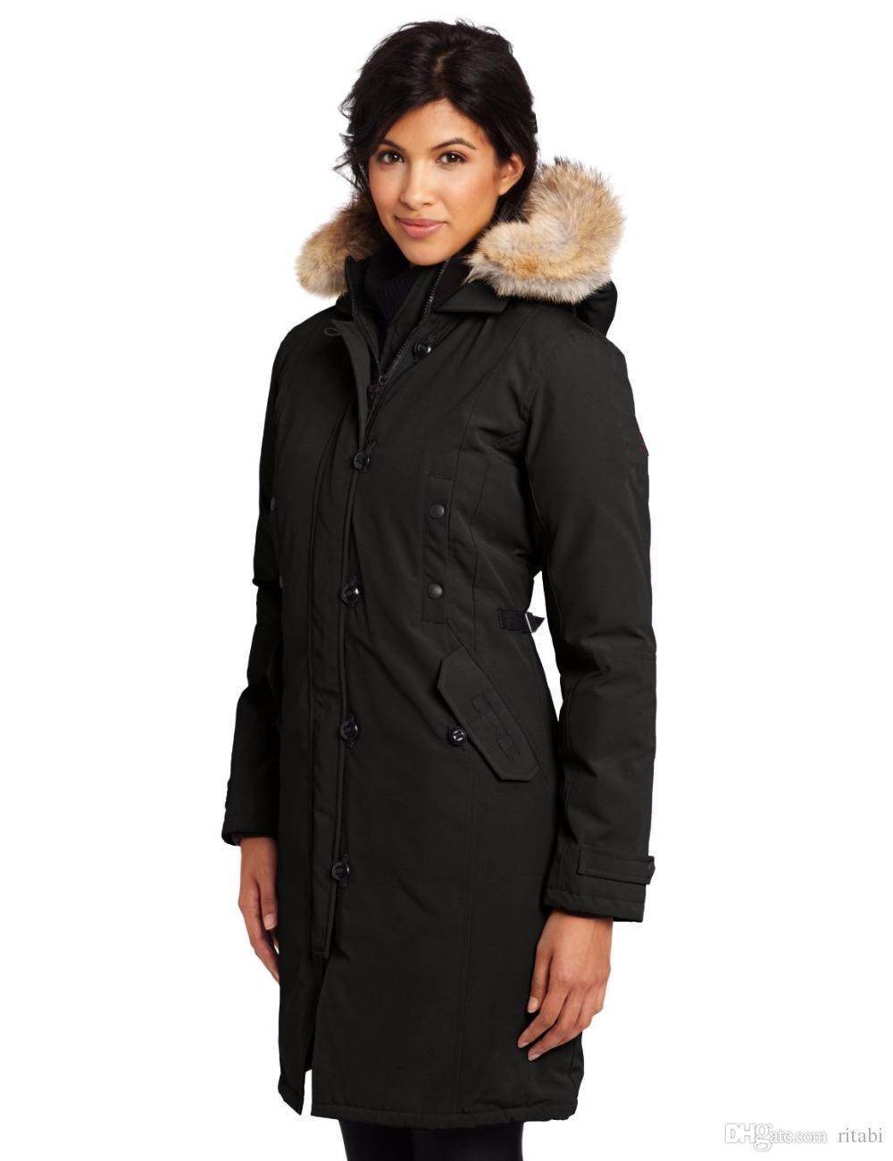 2018 Famous Canadians Brand Big Raccoon Fur Womens Feather Down ...