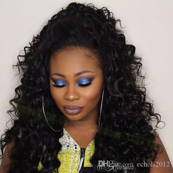 dora pony tails hair extensions kinky curly wet wavy human hair pony tails natural hair brown cilp