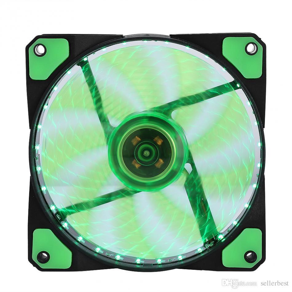 الصمام المشجعين الصامتة يشع غرفة تبريد تبريد مروحة للكمبيوتر pc بالوعة الحرارة 120 ملليمتر مروحة 3 أضواء 12 فولت مضيئة 3pin 4pin المكونات