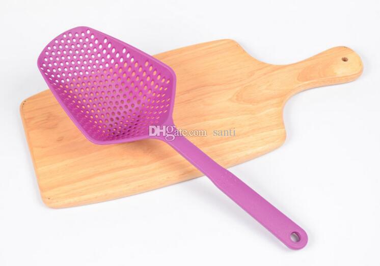 100 unids Caliente Gran Colador de Nylon Scoop Basket Colander Accesorios de cocina gadgets Drenar Vegies agua Scoop Cozinha gadget herramientas de cocina