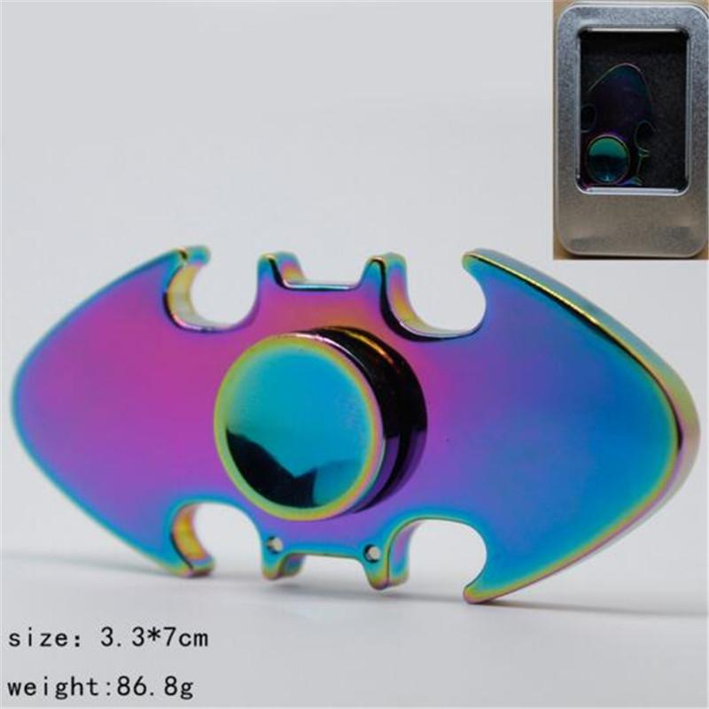 Batman Fidget Spinner Zinc Alloy Rainbow New Metal Hand Finger Desk Focus Adhd Spinning Top Adult Kid Toy Newest Stress