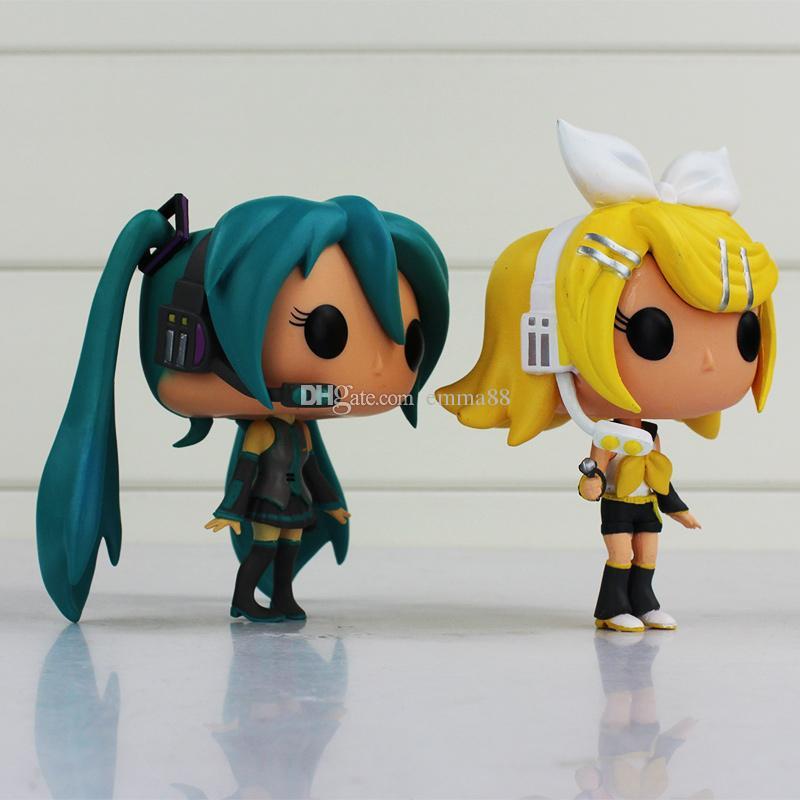 10cm FUNKO POP Anime Hatsune Miku Diva miku Nendoroid Vocaloid pvc doll Action figures birthday gift for kids toy retail