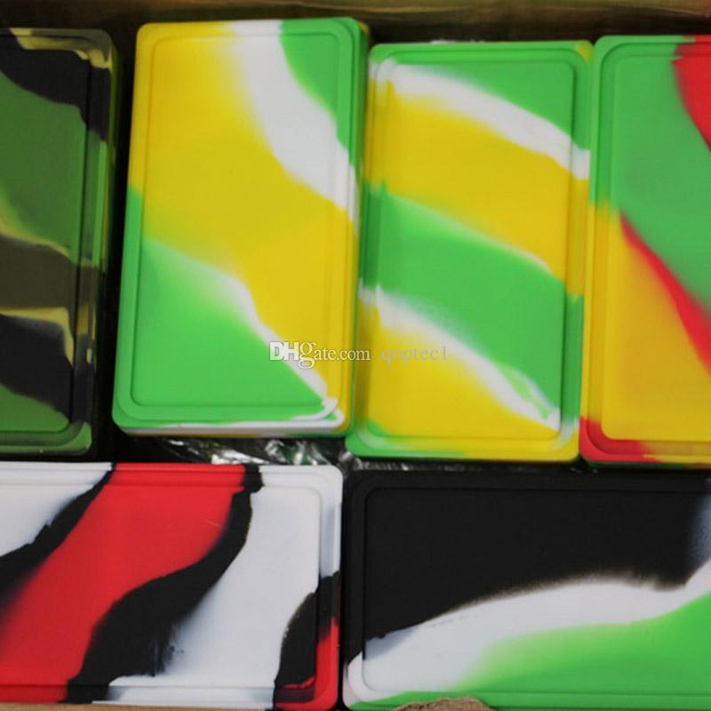 Plana 1 + 1 contenedores de concentrado de silicona dab cera de silicona contenedores de alimentos reutilizables aceite de cera contenedor de silicona hierba seca