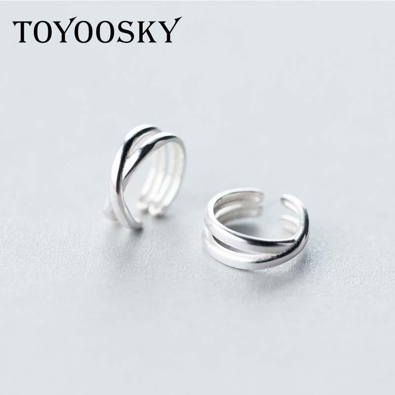 Wholesale Small Real 925 Sterling Silver Hollow Clip Earrings Ear Cuff Jackets For Women Lady Girls Fashion Jewelry