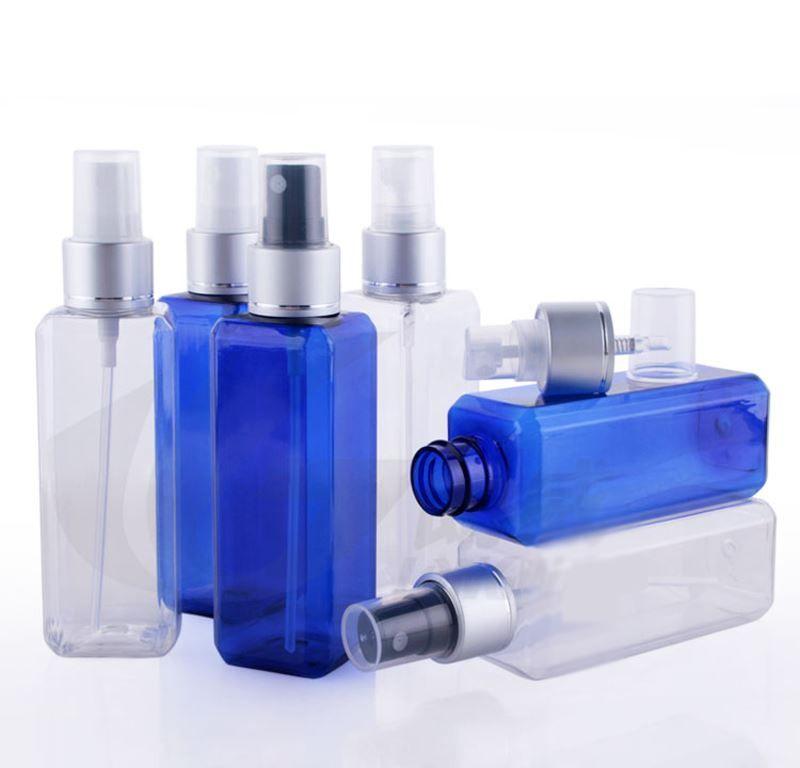 100ml pet plastic empty beautiful perfume water spray bottle square bottles blue d color egyptian perfume bottles perfume bottle design from yi07