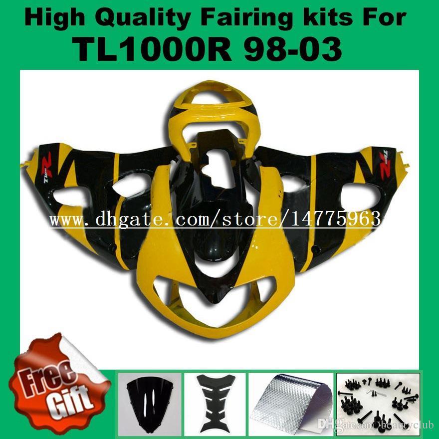 9Gifts + Fairing kits for SUZUKI TL1000R 1998 1999 2000 2001 2002 TL1000 R 98 99 00 01 02 Fairings kit blue white black windscreen bolts