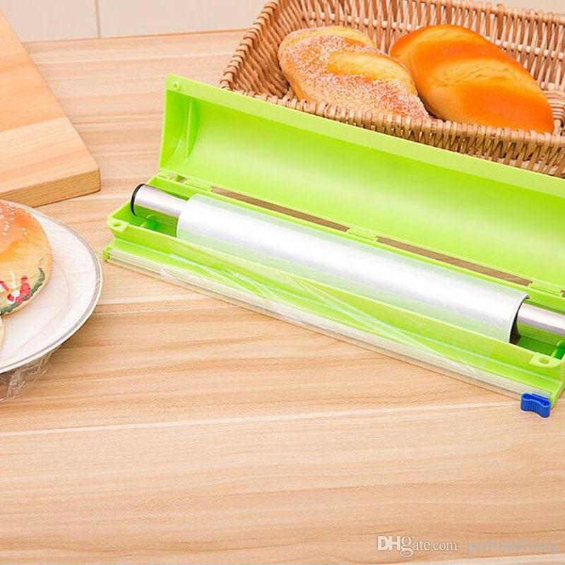 2019 Vogue Plastic Kitchen Foil And Cling Film Wrap Dispenser Cutter Wrap  Dispenser Food Preservative Film Cutter Kitchen Tool ZA3196 From ...