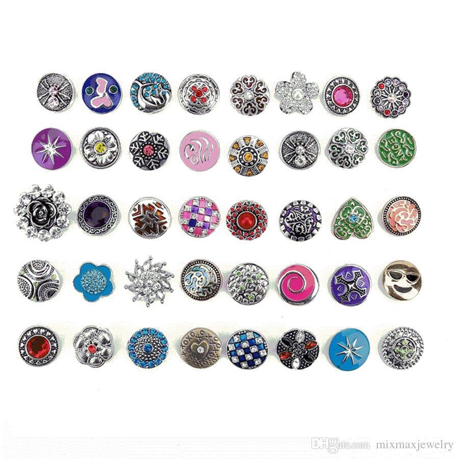 i grandi lotti all'ingrosso / mescolano i bottoni dei bottoni dei bottoni di scappamento delle donne di zenzero 18mm misura i monili di schiocco di DIY Brandnew