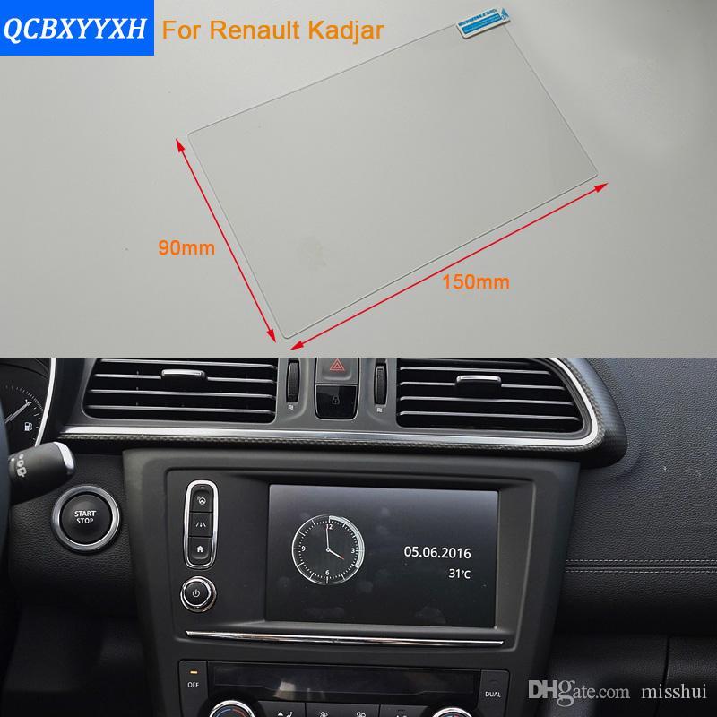 Auto Styling 7 Zoll GPS Navigation Bildschirm Stahl Schutzfolie Für Renault Kadjar Steuerung von LCD Bildschirm Auto Aufkleber 2016-2017