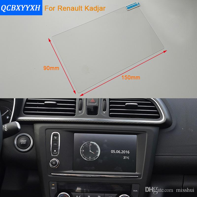 Car Styling 7 Inch GPS Navigation Screen Steel Protective Film For Renault Kadjar Control of LCD Screen Car Sticker 2016-2017
