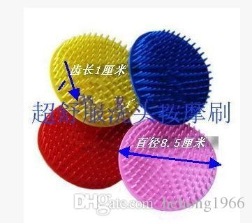 Plastic Round Shampoo Washing Hair Massage Brush Scalp Massager Combs Head Cleaning Bath Brushes Bathroom Accessories High Quality 0 5ba A