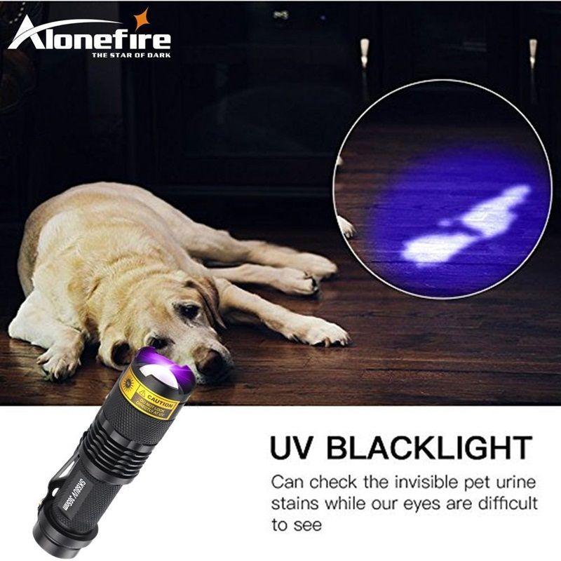 ALONEFIRE SK68uv 365nm mini Zoom UV ultraviolet light to detector lamp flashlight
