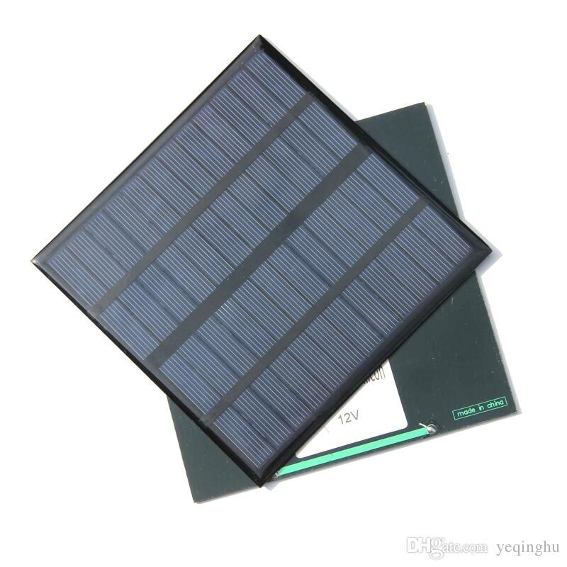 Alta Qualidade 3 W 12 V Mini Solar Cell Policristalino Painel Solar Power Battery Charger 145 * 145 * 3 MM 10 pçs / lote Atacado
