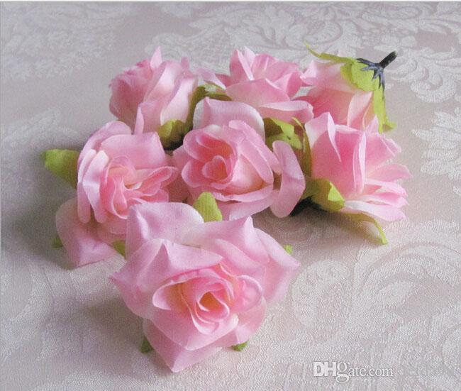 5.5cm White Artificial Silk Camellia Rose Peony Home Decorative Flower Head Wedding Christmas