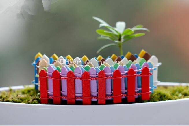 10*3 см Мини ограждение забор фея сад миниатюры гном мох террариумы настольная бутылка сад смолы ремесла украшения для горшечных растений