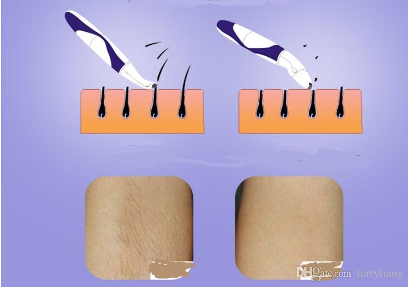 epilatore portatile delle donne del rasoio della signora dei capelli del dispositivo di rimozione dei capelli di uso del regolatore di viaggio dei capelli del rasoio della signora portatile del regolatore di viaggio