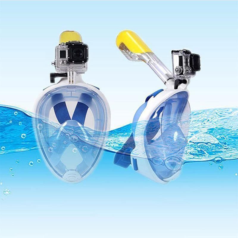 2017 Hot Selling Underwater Diving Mask Snorkel Set Swimming Training Scuba mergulho full face snorkeling mask Anti Fog