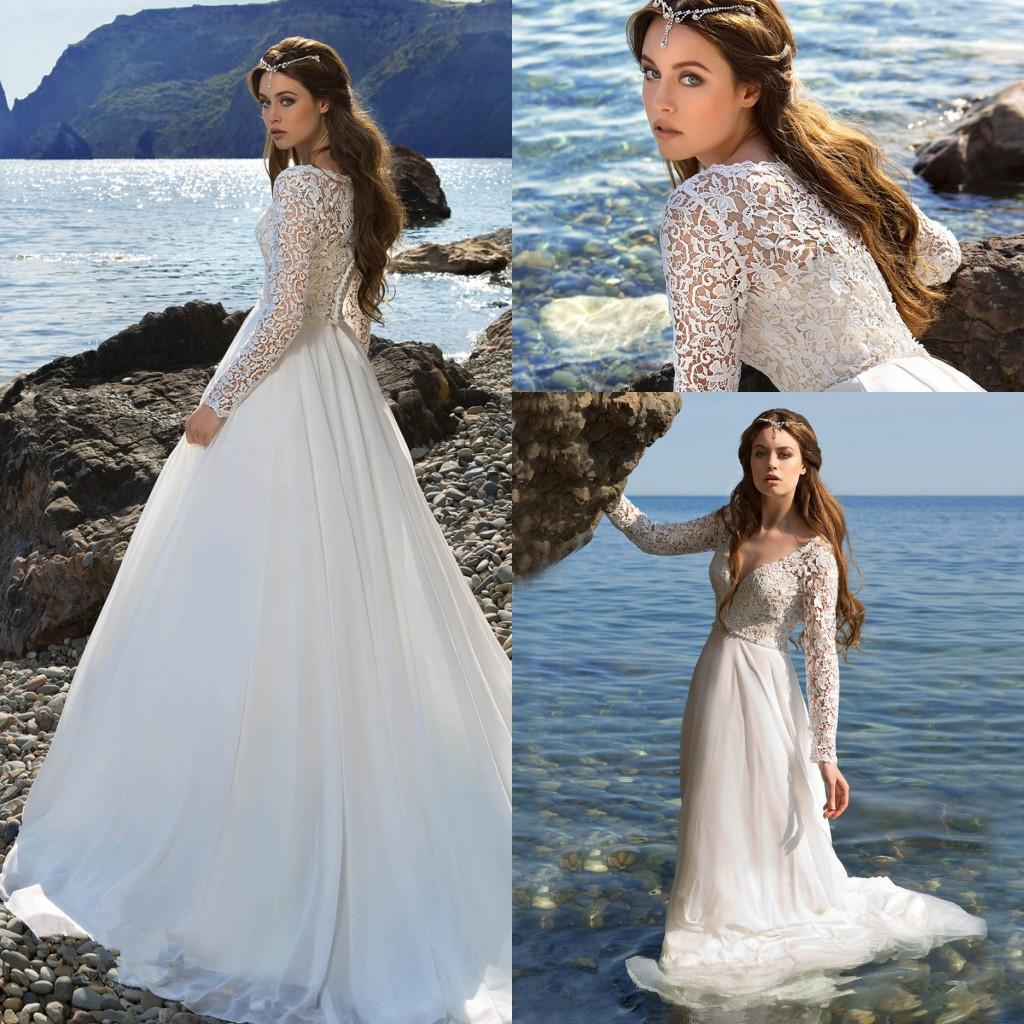 Discount Elegant Spring Robe De Marriage A Line White Wedding ...