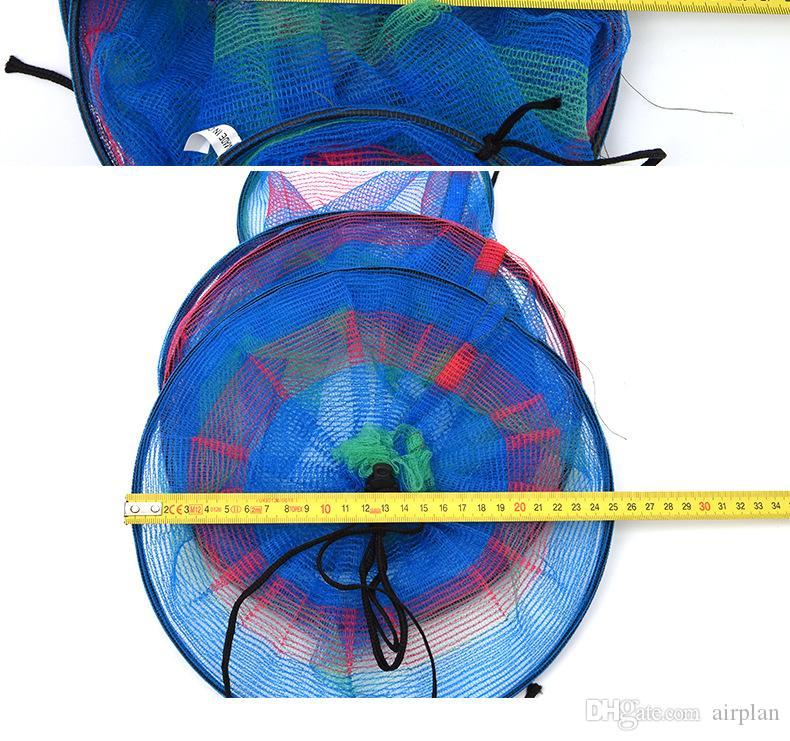 diámetro de 3 capas 25 * 65 accesorios de pesca pesca de material de la red de atención de mini pesca de peces de color alta de nylon trastos
