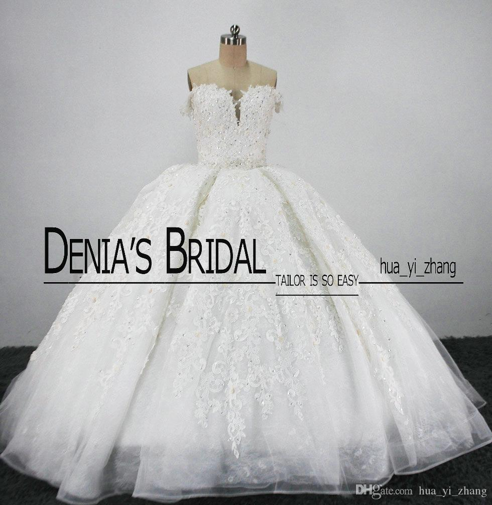 Vintage Royal Bridal Trouwjurken Puffy Ball-jurken Sweetheart Kant Applicaties Tule Cathedral Trein Bruidsjurken