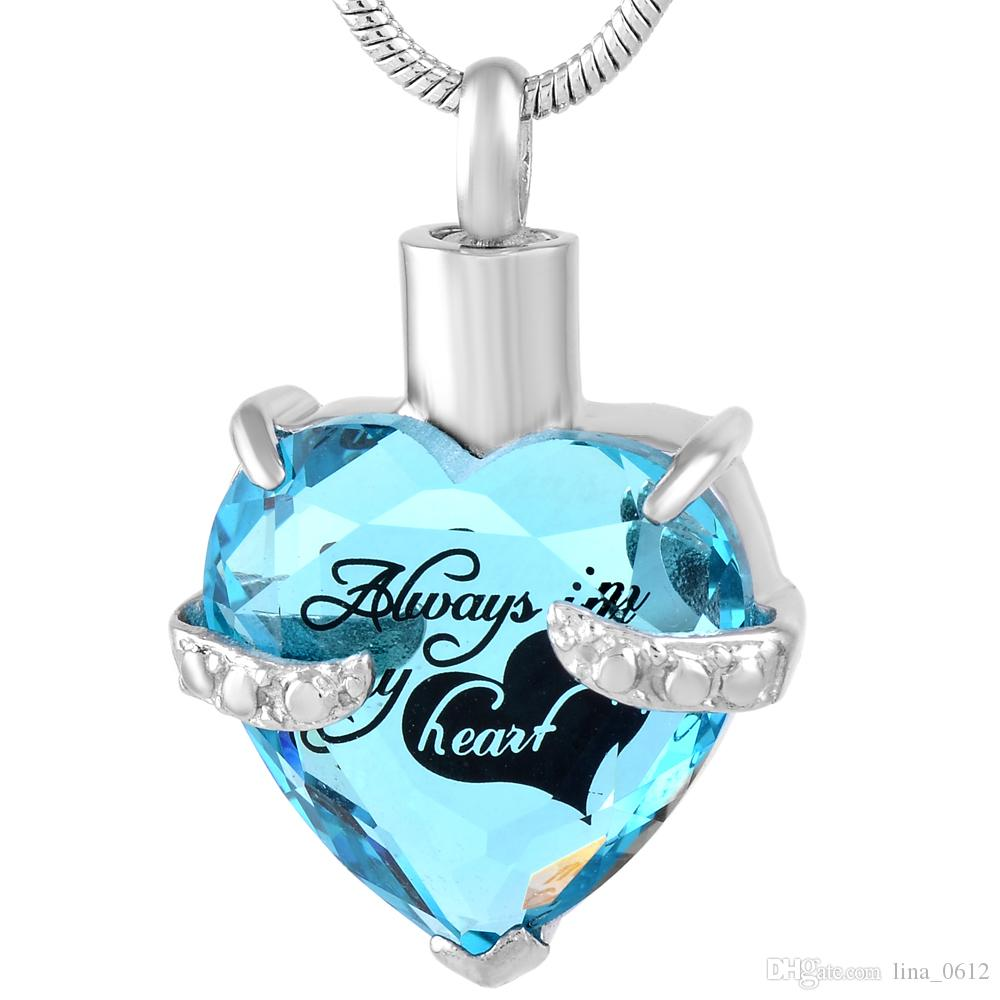 Wholesale 9790 alway in my heart glass cremation jewelry heart ash wholesale 9790 alway in my heart glass cremation jewelry heart ash memorial pendant 316l stainless steel keepsake urn necklace butterfly pendant necklace aloadofball Image collections