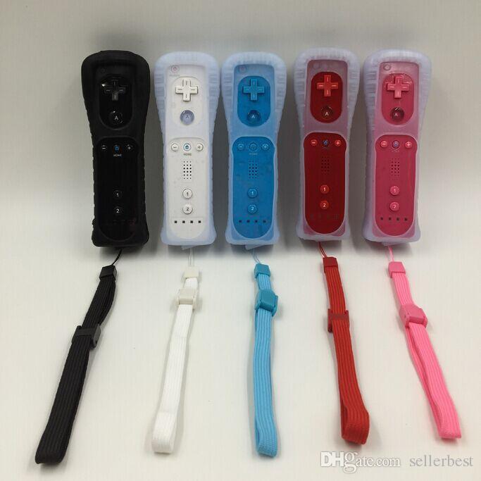Game Motion Plus Fernbedienung Nunchuck Controller Wireless Gaming Nunchuk Controller mit Silikon-Etui für Nintendo Wii-Konsole