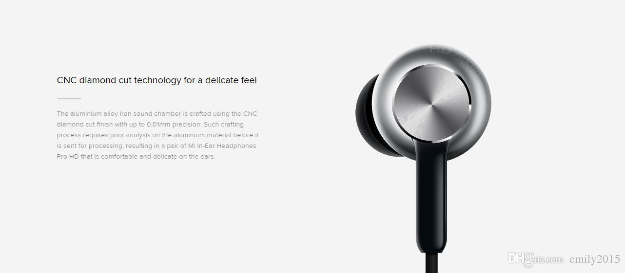 Mais novo original xiaomi híbrido pro hd em estoque fone de ouvido com microfone fone de ouvido remoto para xiaomi redmi red mi telefone móvel in-ear